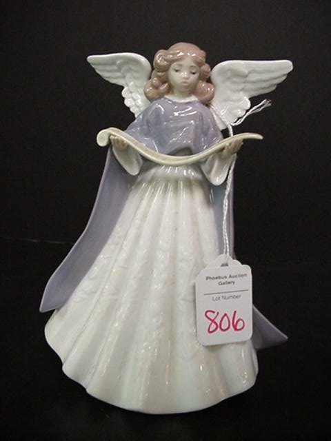 806: Lladro Angel Limited Edition Tree Topper