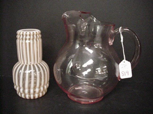 819: Opalescent Striped Tumble Up and Pitcher