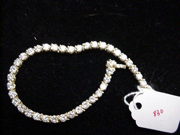 830: 6 CT. Diamond in 14KT Gold Tennis Bracel