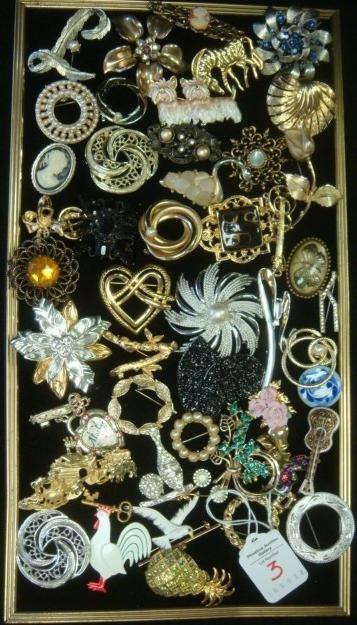 Ladies Costume Jewelry Brooches: