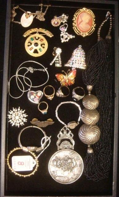 Assortment of Costume Jewelry and Watches: