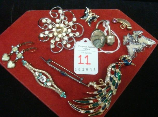 Ladies Costume and Sterling Jewelry: