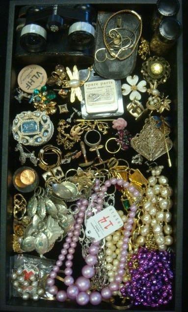 Medley of Costume Jewelry, Opera Glasses: