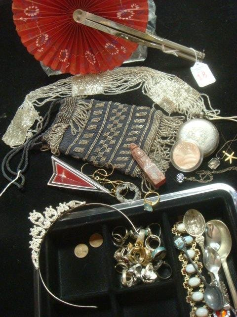 Assortment of Ladies Jewelry, Coins, Spoons and More: