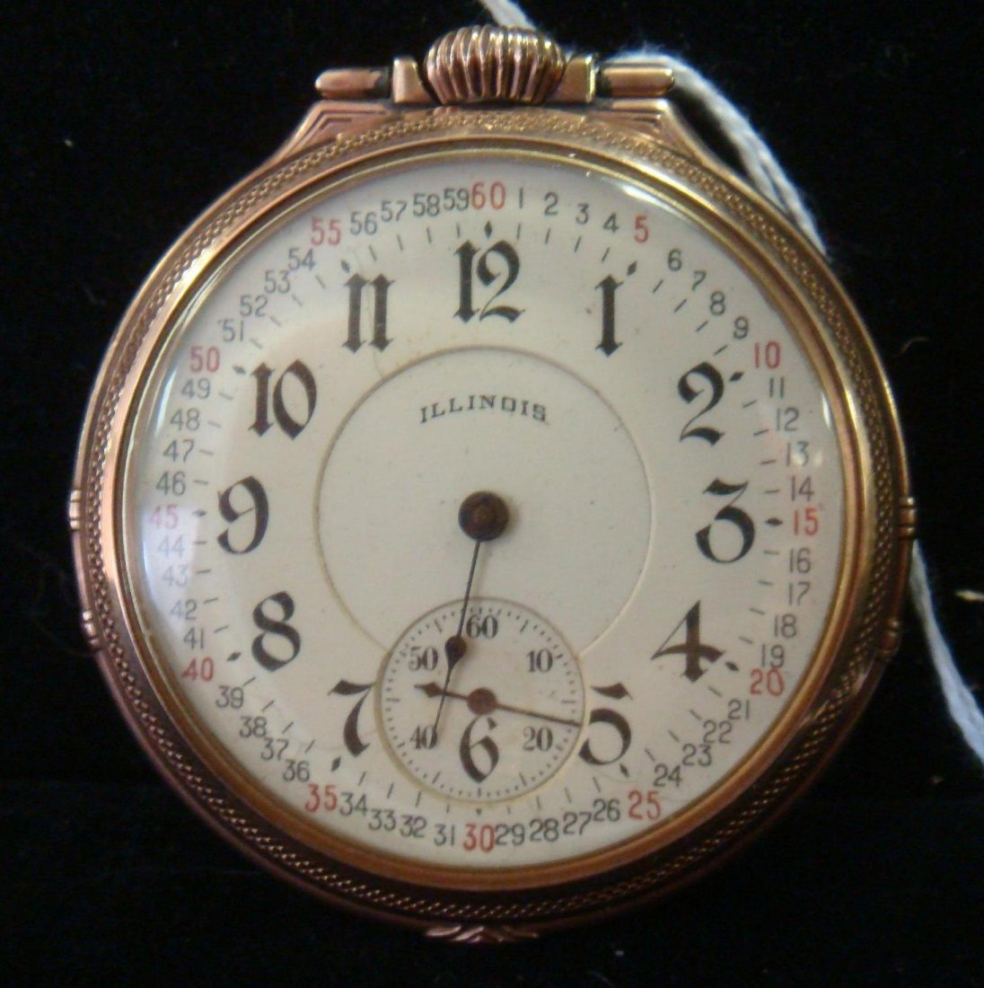 10KT Gold Filled Illinois Pocket Watch: