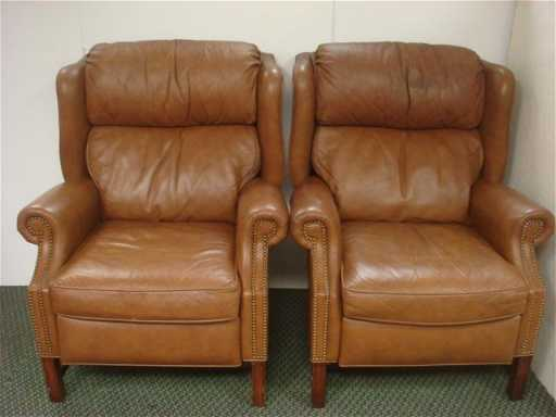 Two Motioncraft By Sherrill Leather Recliners See Sold Price