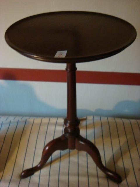 Queen Anne Style Mahogany Candle Stand:
