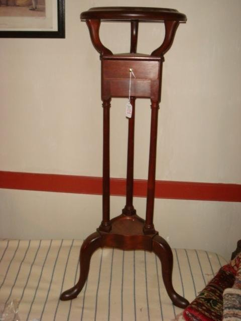 Mahogany Colonial Style Wig Stand: