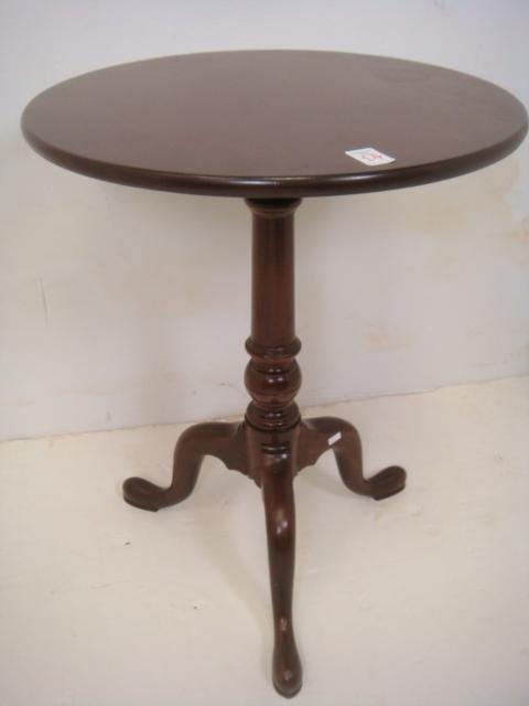 Round Tripod Leg Side Table: