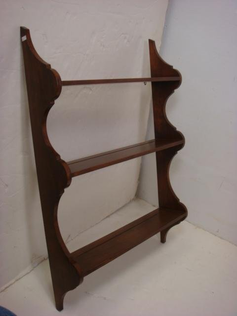 Two Wall Mounted Wooden Plate Racks: - 3