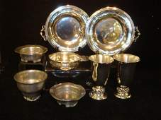 Shirley Pewter and Kirk Stieff Pewter Tabletop Items:
