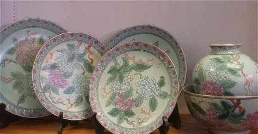 Five Pieces Of Hfp Macau Decorative China
