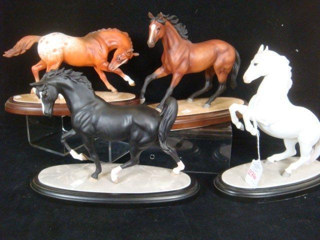 Four LENOX International Horse Sculptures: