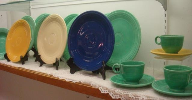 Vintage Fiesta Plates, Cups and Saucers: