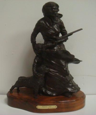 "VIC RIESAU ""PRAIRIE GRIT"" Bronze Statue:"