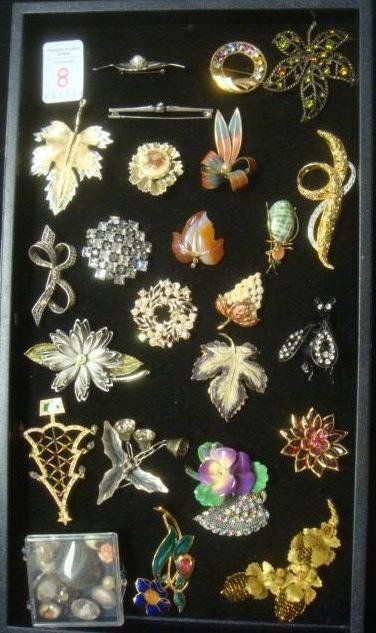 Assortment of Ladies Costume Pins: