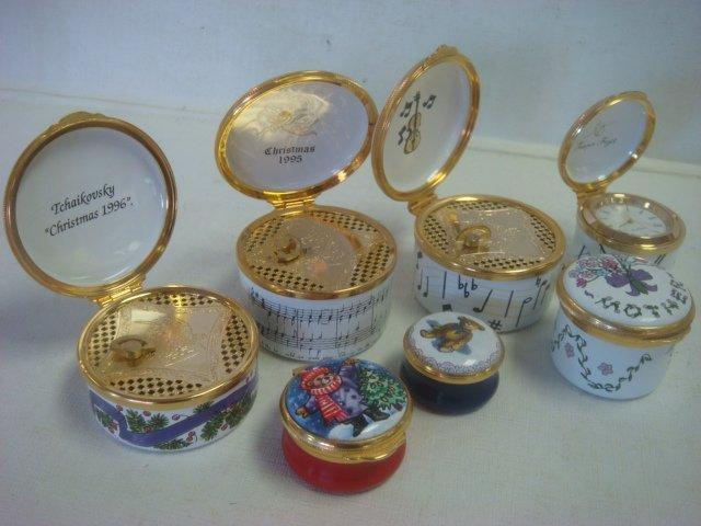 ALASTOR, CARTIER & Smithsonian Enamel Trinket Boxes: