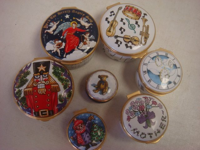 ALASTOR, CARTIER & Smithsonian Enamel Trinket Boxes: - 2