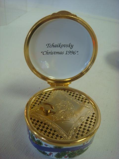ALASTOR, CARTIER & Smithsonian Enamel Trinket Boxes: - 3