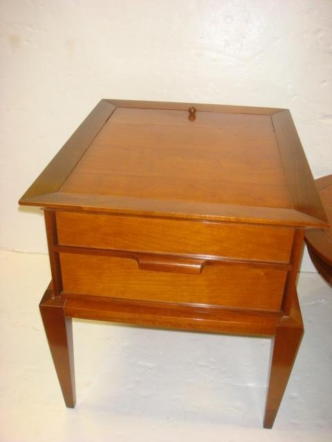 TOMLINSON Parkway Terrace Mid Century Side Table:
