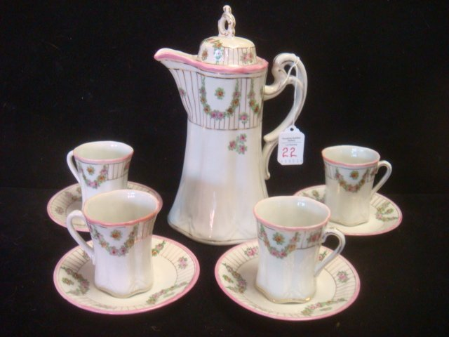 Porcelain Chocolate Set Marked Made in Nippon: