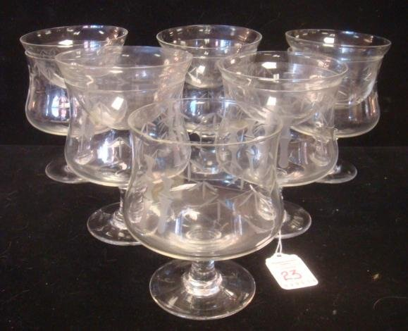 Set of 6 Glass Shrimpers with 5 Inserts: