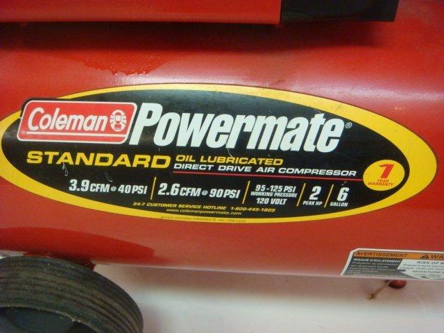 Coleman Powermate Direct Drive Air Compressor: - 2