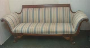 Walnut Federal Sofa with Eagle Feet