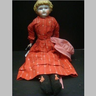 HIGHLAND MARY China Head Doll: