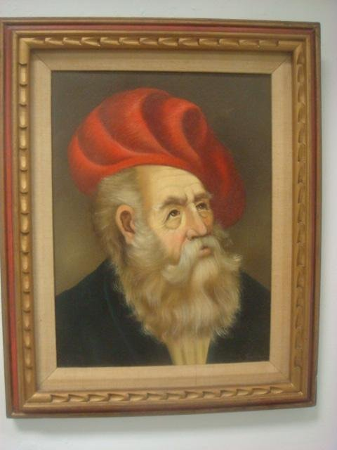 Painted Portrait of Bearded Man Signed Gardonyl: