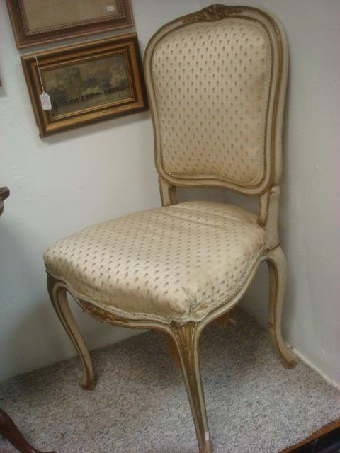 Pair of Louis XV Style La Belle Epoque Side Chairs: