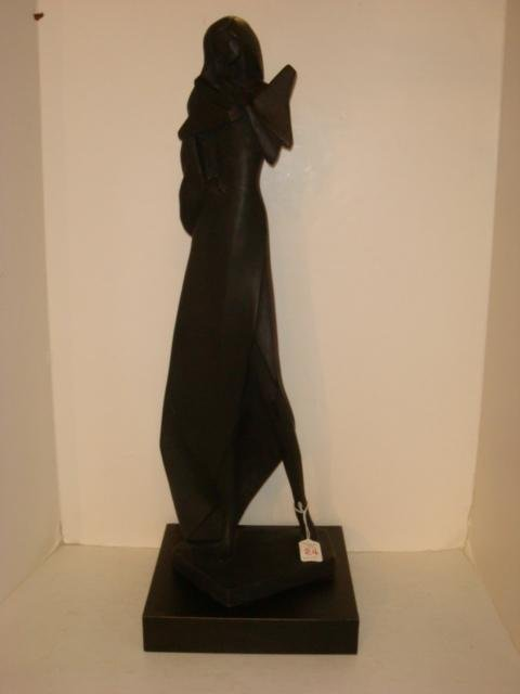 AUSTIN PROD. INC Lady Statue in Black by Fisher: