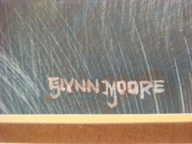 Signed GLYNN MOORE Ducks in Flight Watercolor: - 3
