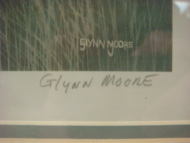 Pencil Signed and Numbered GLYNN MOORE Print: - 3
