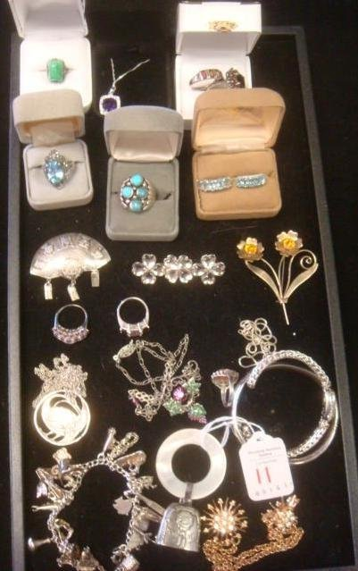 Sterling, Marcasite, and Stone Set Jewelry: