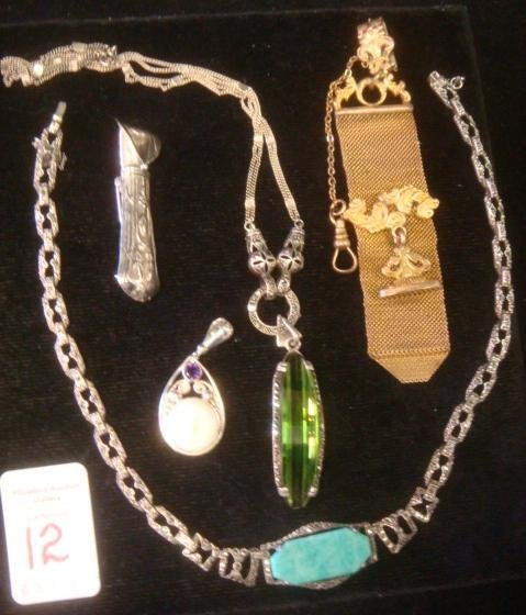 Assortment of Jewelry and Nouveau Items: