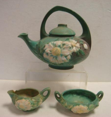 ROSEVILLE PEONY TEA SET IN Green: