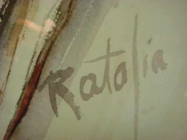 Signed and Numbered C RATALIA Saluki Print: - 3