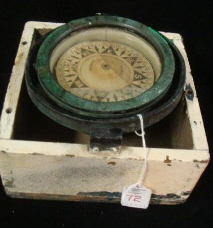 E. S. Ritchie & Sons Gimbaled Boat Compass in Box: