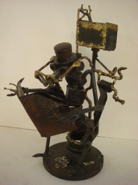 "Whimsical ""Found"" Metal Sculpture by JOHN DUFFY:"
