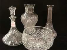 WATERFORD Marquis Vase Decanters  Crystal Bowl