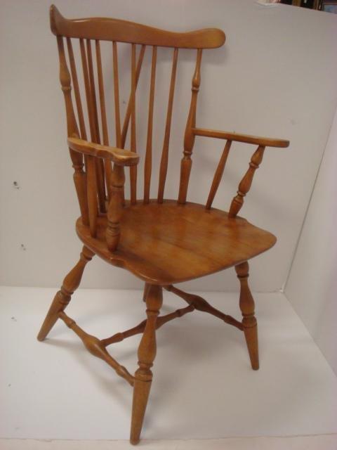 Four HEYWOOD WAKEFIELD Brace Back Windsor Chairs: - 2