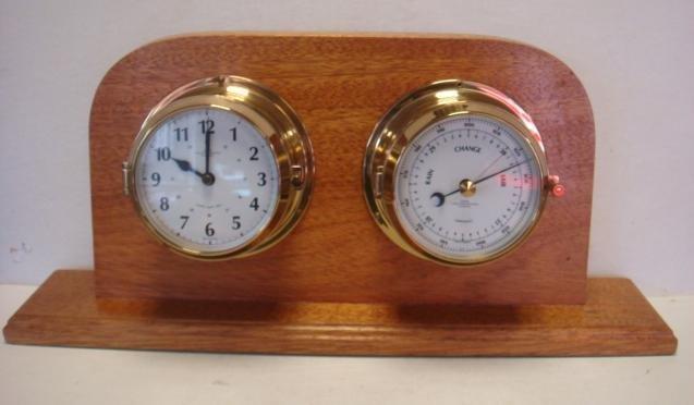 WEMPE Chronometerwerke Ships Clock and Barometer: