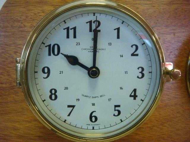 WEMPE Chronometerwerke Ships Clock and Barometer: - 2