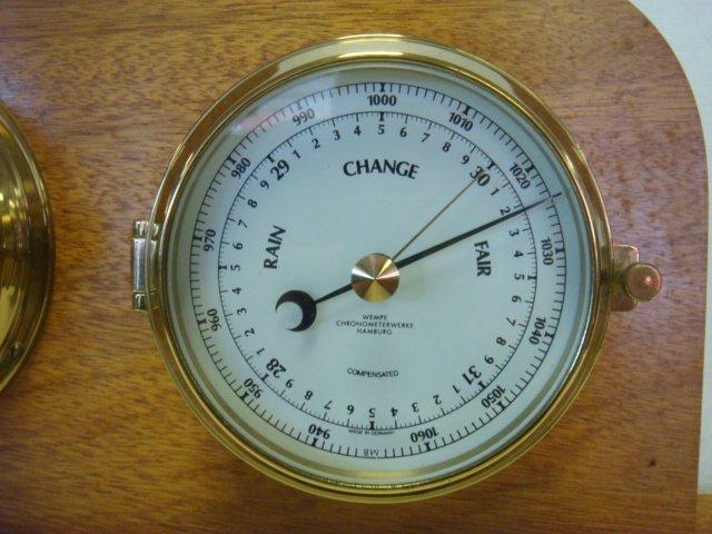 WEMPE Chronometerwerke Ships Clock and Barometer: - 3