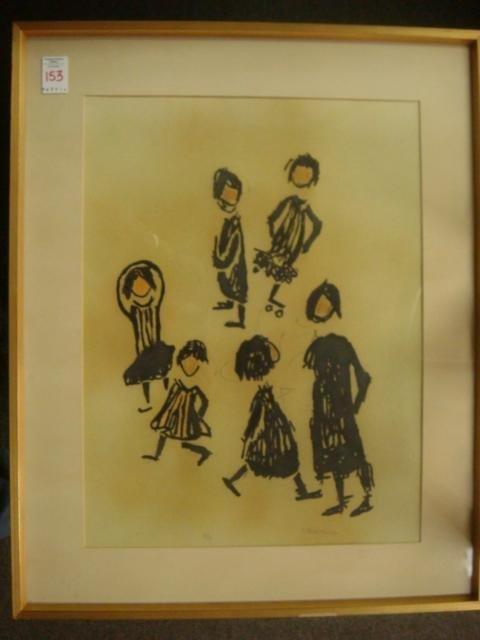 S.ROSENBLUM Artist Proof of Frolicking Children: