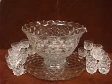 FOSTORIA American Punch Bowl Set 27 Pieces