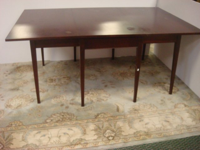 Mahogany CRAFTIQUE Happlewhite Drop Leaf Dining Table