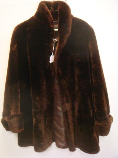 Rice's Store Chocolate Brown Mouton Jacket: