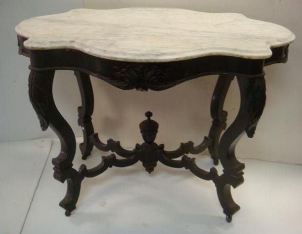 Victorian Marble Turtle Top Table: